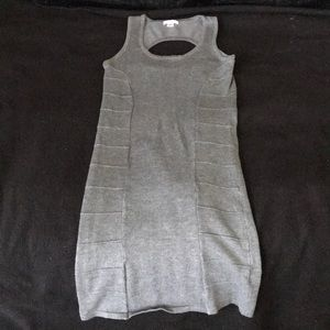 Dresses & Skirts - Gray bodycon dress with cutout back